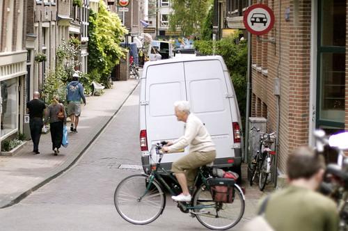 Amsterdam lady on bike