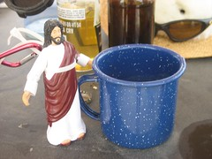 Jesus and his morning coffee
