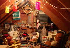 Grammy's Attic (Qvidja50) Tags: bear teddy attic grandkids teaparty grammys