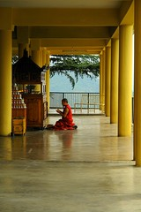 Faith moves mountains (Road Blog) Tags: red color yellow plc faith prayer monk devotion favourite dharamshala mcleodganj himachalpradesh buddishm aplusphoto