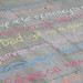 Pavement poems - nice things that people have done
