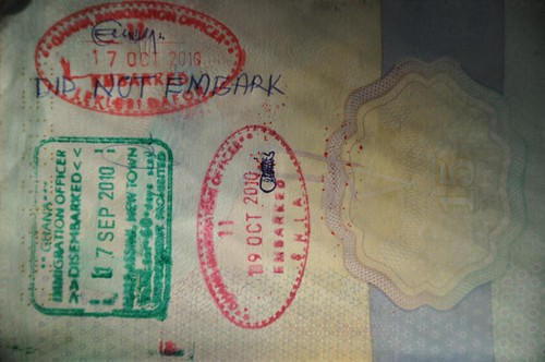 Double exit stamp