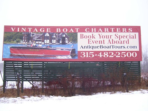 antique boat billboard