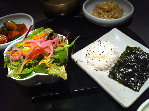Salad & rice/seaweed