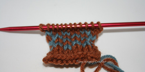 Stranded knitting sample