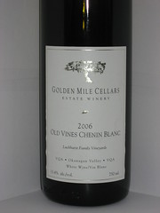 Golden Mile Cellars Old Vines Chenin Blanc 2006