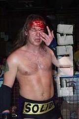 UL-bloodyeye (goldenarrow74) Tags: scott gold blood wrestling drew professional parker mcdonald solid prowrestling