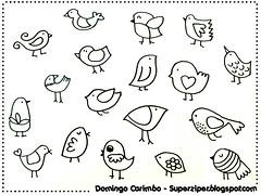 Domingo-carimbo: pássaros