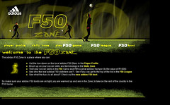 """Adidas F-50 socecr boot promotional campaign • <a style=""""font-size:0.8em;"""" href=""""http://www.flickr.com/photos/10555280@N08/971848797/"""" target=""""_blank"""">View on Flickr</a>"""