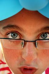 goofball (Five eyes) Tags: emma photofaceoffwinner icecreamsocialneighborhoodpeoplefoodfruitcherriestomotoesredchildarlomessyballoontossgamesummeraugust2007 pfogold