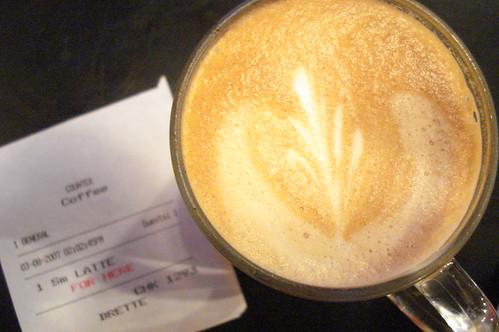 Small latte, Diesel Café
