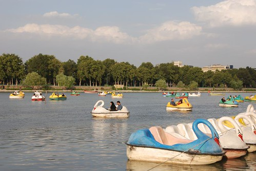 Pedal boats in Esfahan
