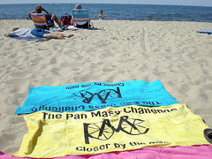 Our PMC towels on Race Point Beach