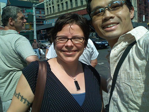 Ruby Glitter & me in Chinatown, NYC