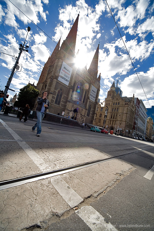 St Pauls from Swanston & Flinders @ 12mm