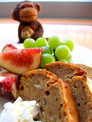 banana bread (aloalo*) Tags: food japan monkey tokyo friend sweet banana okinawa bananabread fuit blacksugar osaruchan theperfectphotographer