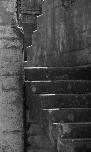 Battery Stairs BW