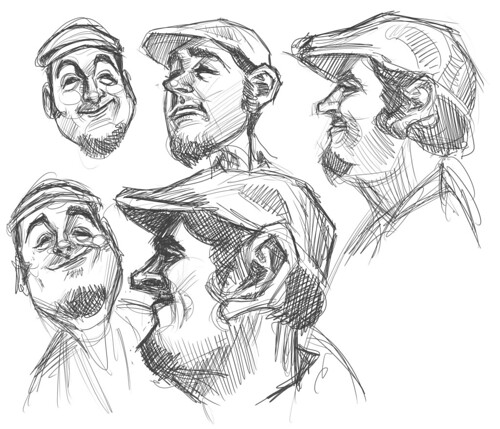 thumbnail sketches of Jaume Cullell