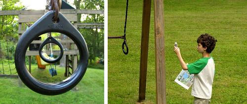 Backyard Bingo - swing set