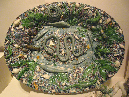025-Plato con decoracion marina-original-Bernard Palissy