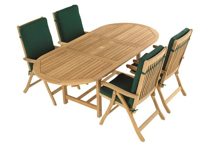"72"" Teak Oval Family Extension Table"