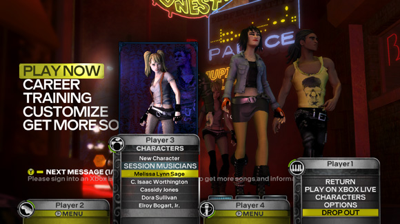 Rock Band 3 - Overshell screen