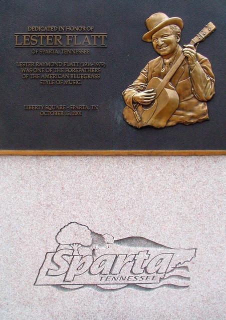 Lester Flatt monument - Sparta, TN town square