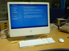 Windows installation on an Intel iMac (*Tom*) Tags: windows macintosh imac k750i applemac sacrilege