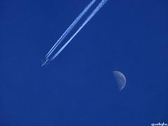 Buen Viaje (Gustavo Nudo (Guslight)) Tags: viaje sky moon azul aircraft luna explore cielo ac avion vuelo panasonicdmcfz50 guslight gustavonudo