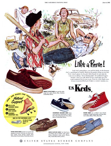 ef0b119fc546 Not actual U.S. Keds - his are made of hemp and come from No Sweat Apparel  - but that classic 50 s style hasn t changed a bit.