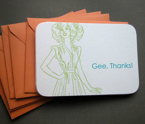 Gee Thanks! orange envelopes