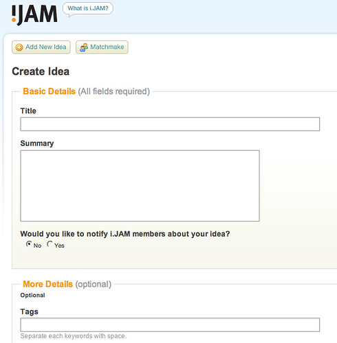 screenshot - ijam.sg create an idea