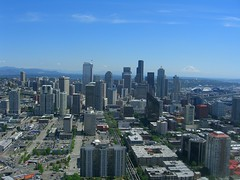 on top o the space needle (minicloud) Tags: seattle washington spaceneedle observationdeck