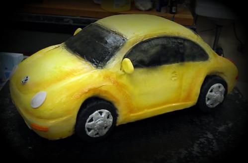 volkswagen beetle car. vw beetle car cake