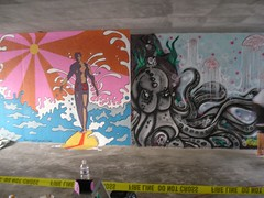 Finished Murals (Kurt Christensen) Tags: art beach painting mural surfer gilgobeach gilgo