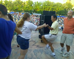 Viv dances with Takeshi