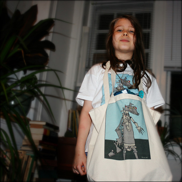 """The Child Experiments with Selling His Art: """"I love my loot from Cafe Press!"""""""