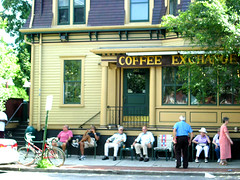 Waiting for the parade on Wickenden St. (Mixxie Sixty Seven) Tags: festival parade providence ethnic portuguese coffeeexchange wickendenst