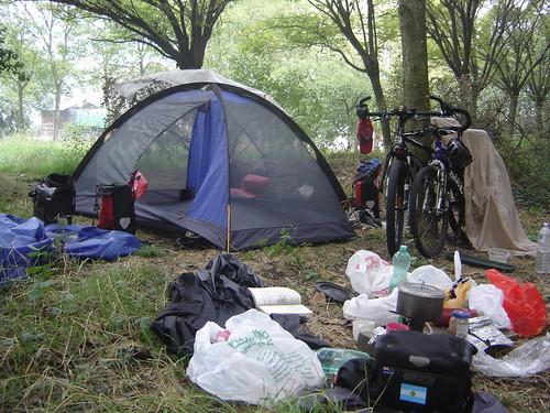 Camping por la mañana