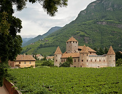 Castle Maretsch (Dichtung & Wahrheit (Poetry and Truth)) Tags: travel trees italy mountains green castle nature architecture yard landscape wine dolomites cultural valais 12century abigfave maretsch