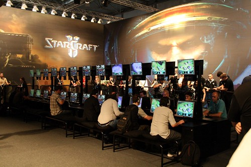 Blizzard Booth: Left side - Starcraft II