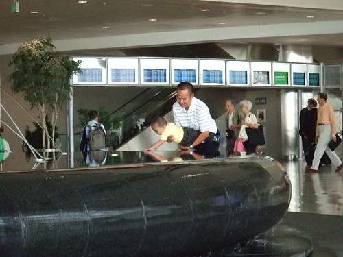 Fountain in Detroit airport