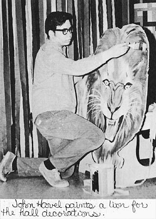 Senior Prom hall decorations-1968