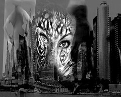 City Huntress of the Night.Abstract. Nellie Vin (Nellie Vin) Tags: new york city people newyork abstract film night women shadows nightlife limitededition huntress artlibre nellievin cityhuntressofthenight ulitimateabstract