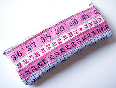 Pink and White Measuring Tape Case