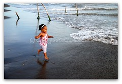 Run Haley, Run!!! (CharleneCollins.JamaicaImages) Tags: fall beach kids hilarious sand funny waves action surfer run 101 jamaica nosedive 18135mm charlenecollinsjamaicagmailcom charlenecollins