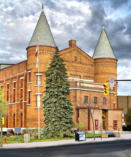 The front of the Orillia Opera House with it's two towers.