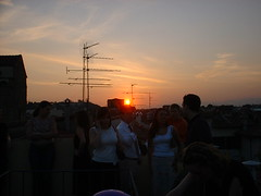 DSCF0165 (lilbuttz) Tags: sunset party italy florence rooftops antenna helensbirthday helensapartment exactlocationunknown accentflorencespring2002