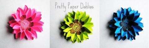 Gilded Bee Paper Dahlias