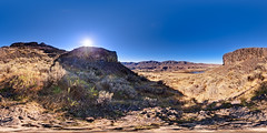 Lake Lenore Caves Park (Garret Veley) Tags: panorama washington desert coulee stitched 360x180 basalt ptgui equirectangular canon15mm nodalninja3 lakelenorecaves lowergrandcoulee canon5dmk2 garretveley glaciallakefloods